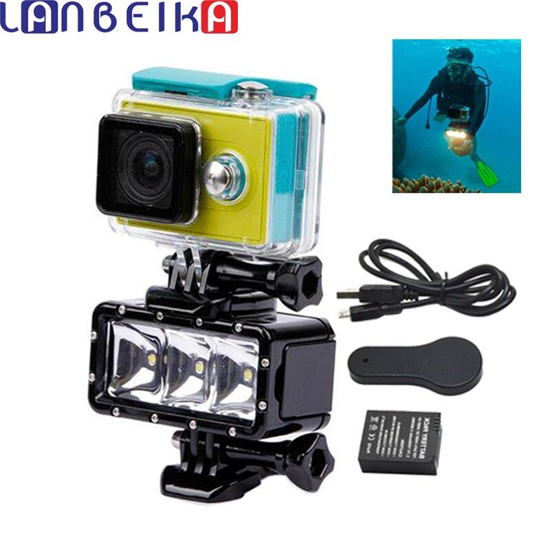 LANBEIKA Accessories Underwater Light Diving Waterproof LED Light Buckle Mount For GoPro 6 5 4 3+ SJCAM SJ4000 SJ5000 SJ6 SJ7