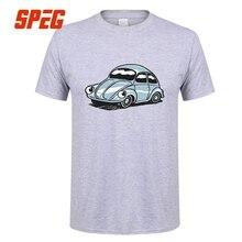 Beetle Bug Classic Style Blue Car T Shirt VW Short Sleeve 100 Cotton Men Casual Simple