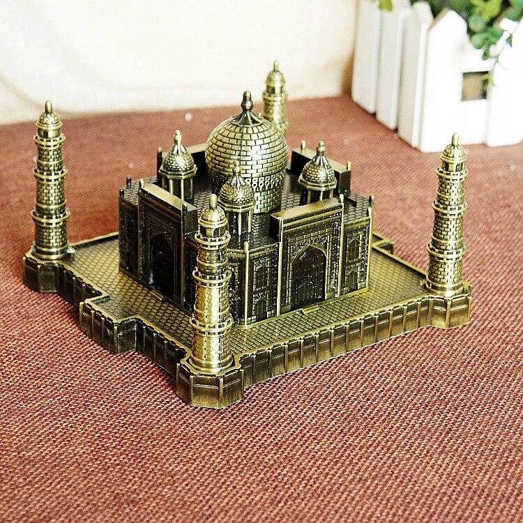 インドタージマハルモデル金属手芸建物モデルホームオフィステーブルの装飾