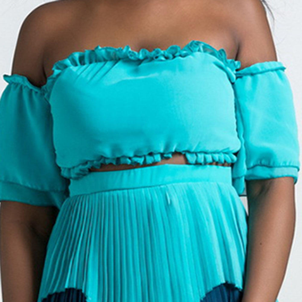 38e84246f6bf4 Clocolor Off Shoulder Layered Dress Fashion Color Block Rainbow Backless  Bowknot Tie Beach Dress Women Plus Size Long Maxi Dress-in Dresses from  Women's ...