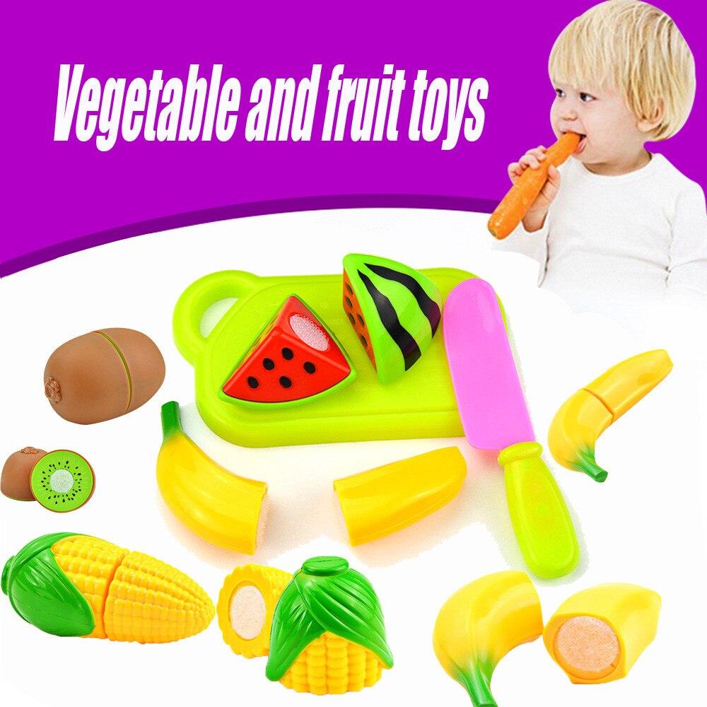 4PCSSet Kitchen Simulation Toys Cutting Fruit Vegetable Diversity Food Plastic Toys Pretend Play Children Kid Educational Toys