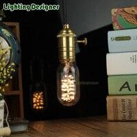 T45 Led Edison Bulb 220V 3W Spiral LED Filament Design Tubular Bulb Pendant Lamp Bulb Droplight