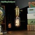 T45 edison lâmpada led 220 V 2 W espiral projeto tubular LEVOU filamento da lâmpada pingente lâmpada droplight lâmpada Festivo lâmpadas decorativas