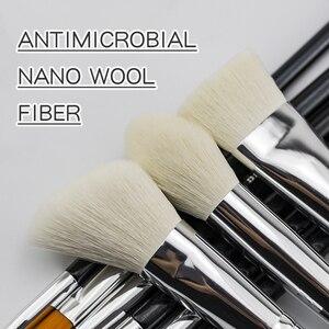 Image 5 - Beili Zwart Geitenhaar Professionele Make Up Kwasten Set Foundation Concealer Oogschaduw Blending Cosmetische Borstel Pinceaux Maquillage