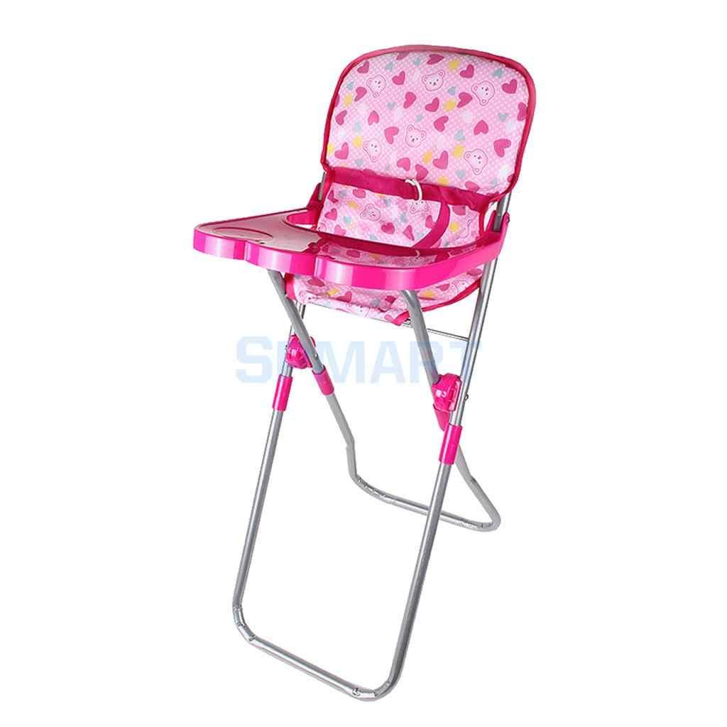 23*31*56 Cm Bayi Boneka Makan Kursi Tinggi Model Simulasi Furniture Model 9-12 Inch boneka Anak-anak Berpura-pura Bermain Mainan