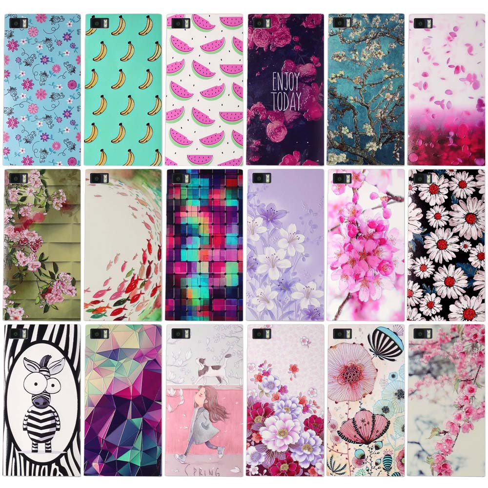 2016 Soft TPU Flower Fruit Girl Printed Case for Xiaomi 3 Xiao Mi 3 MI3 M3 Gel Silicone Back Phone Cover for Xiaomi3 M 3 MI 3