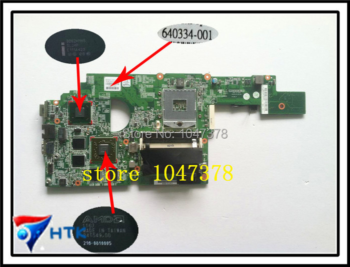 Wholesale 640334-001 657602-001 for HP DV4 DV4-3000 motherboard HM65 DV4-3000 series DV4-3028TX 100% Work Perfect free shipping laptop motherboard for hp 657602 001 dv4 dv4 3000 motherboard full test and 100