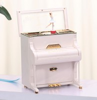 1PC New High Quality Simple Fashion Style Piano Music Box Gift Exquisite Plastic Ornaments KN 038