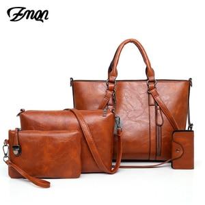 Image 1 - ZMQN 여성 핸드백 지갑과 핸드백 세트 여성용 크로스 바디 가방 2020 가죽 가방 여성 핸드백 유명 브랜드 C679