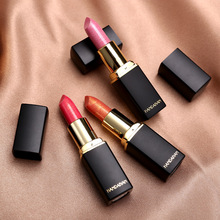 Professional Lips Makeup Waterproof Shimmer Long Lasting Pigment Nude Pink Mermaid Shimmer Lipstick Luxury Makeup Cosmetic