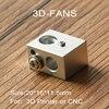 5Pcs/lot 3D Printer Parts Reprap MK10 Aluminum Heater Block All-Metal Extruder For Makerbot 10 HotEnd 20x16x11.5 20*16*11.5mm