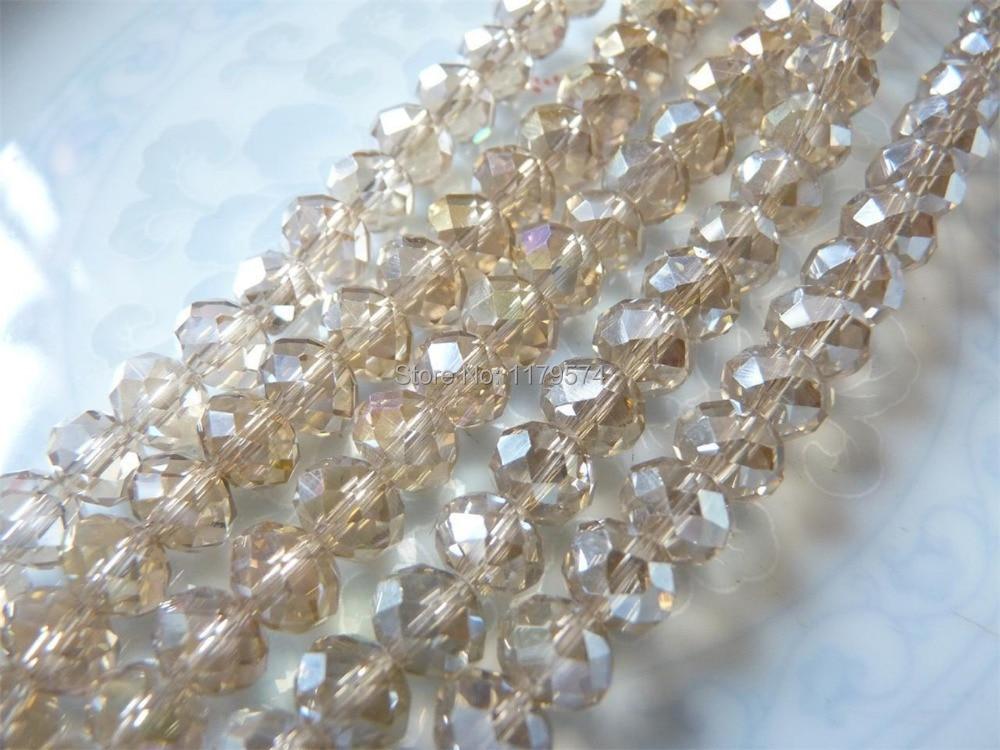 Бесплатная доставка Оптовая продажа Strand красивые довольно 6×8 мм ограненный прозрачный кристалл свободные Бусины 72 «ювелирные изделия sp014