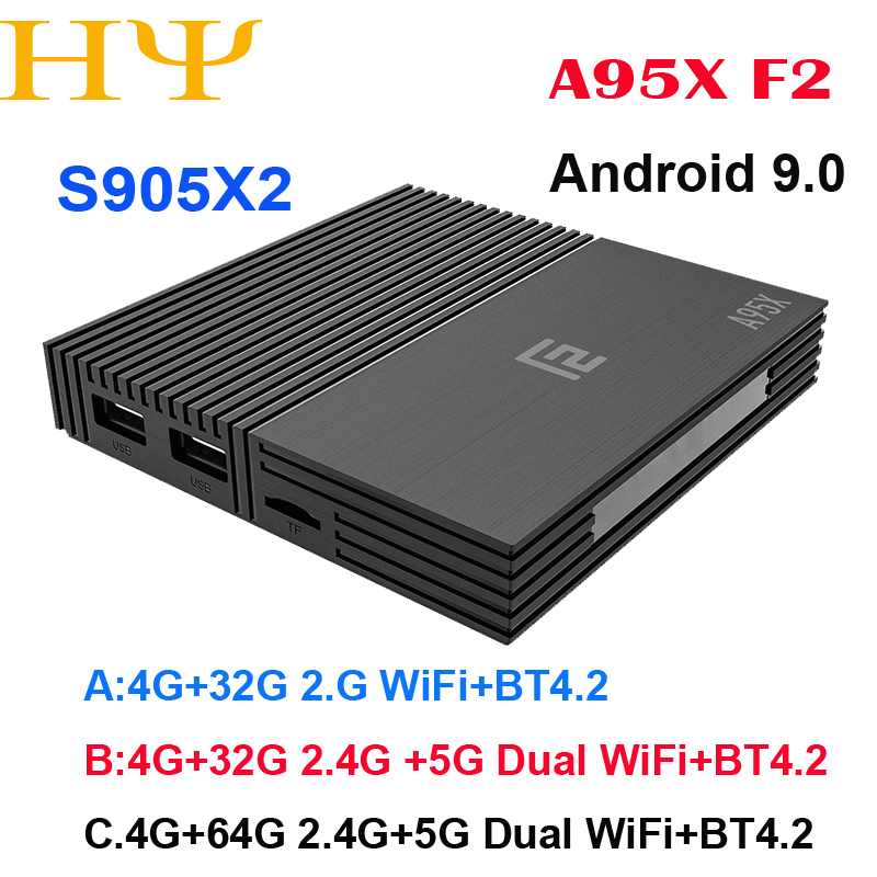 Android 9.0 TV BOX A95X F2 Amlogic S905X2 4K Smart TV Player Box 4GB 64GB 2.4G&5G Dual WIFI PK X96 Mi Set-top BoxAndroid 9.0 TV BOX A95X F2 Amlogic S905X2 4K Smart TV Player Box 4GB 64GB 2.4G&5G Dual WIFI PK X96 Mi Set-top Box