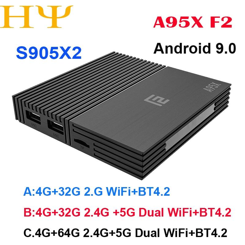 Android 9.0 TV BOX A95X F2 Amlogic S905X2 4K Smart TV Player Box 4GB 64GB 2.4G&5G Dual WIFI PK X96 Mi Set-top BoxAndroid 9.0 TV BOX A95X F2 Amlogic S905X2 4K Smart TV Player Box 4GB 64GB 2.4G&5G Dual WIFI PK X96 Mi Set-top Box