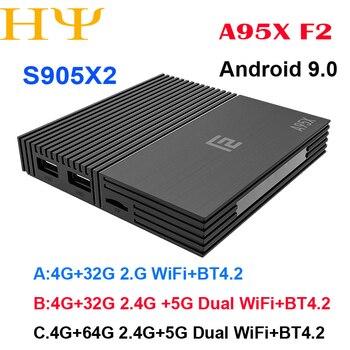 Tanix TX5 Max TV caja Android 8,1 4 GB LPDDR4 32 GB EMMC 2,4 GHz 5 GHz WiFi  Amlogic S905X2 soporte