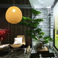 Простой сад гостиная лестницы подвесной светильник БАМБУКА СТОЛОВОЙ лампа Чайный домик лобби подвесные светильники AP8211606