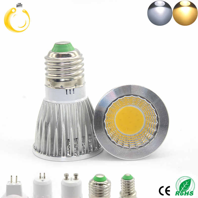 6PCS/Lot  COB GU5.3 E27 E14 MR16 LED 9W 12W 15W GU10 led spotlight dimmable GU10 COB spotlight for home lighting