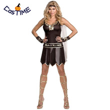 Sexy Gladiator Costume Women Ancient Greek Goddess Roman Gladiator Xena Warrior Spartan Ladies Fancy Dress Halloween Costumes polyresin ancient greek roman warrior armor model creative home decration aircraft gift