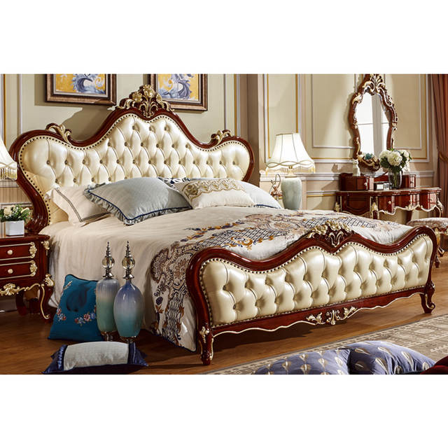 . US  190 0  European leather wooden bed designs king size bed models 6035 in  Bedroom Sets from Furniture on Aliexpress com   Alibaba Group