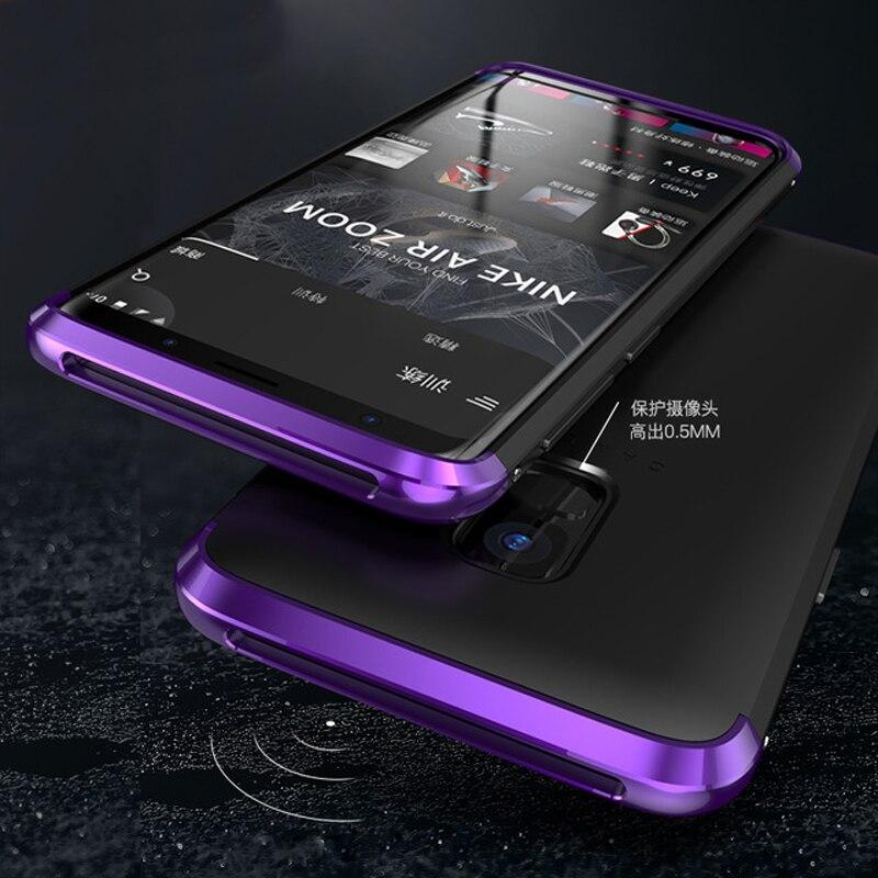 Lujo Metal duro plástico Anti-huella digital caso sFor Samsung S9 caso S9Plus Plus armadura para Samsung Galaxy S9 más Nota 8 S8