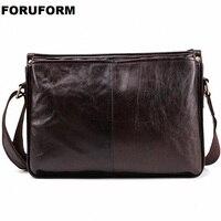 Genuine Leather Bag Men Bags Male Shoulder Crossbody Bags Messenger Small Flap Casual Handbags Men Leather Bags LI 2272