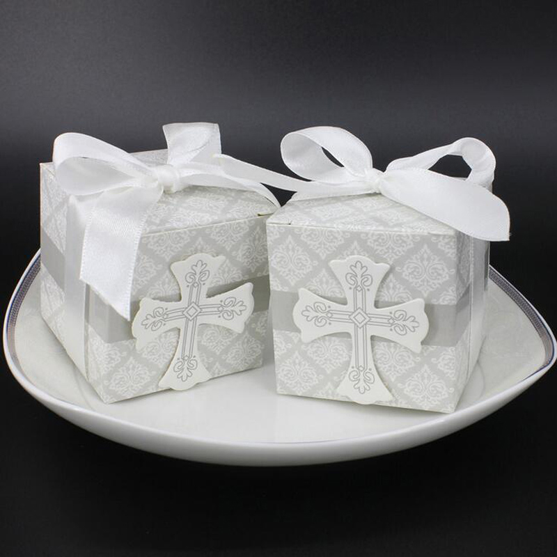 Avebien First Communion Cross Candy Boxes Christening Baby