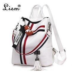 Сумки для женщин 2019 Новый Ретро Модный женский рюкзак на молнии из искусственной кожи школьная сумка высокого качества сумка через плечо дл...