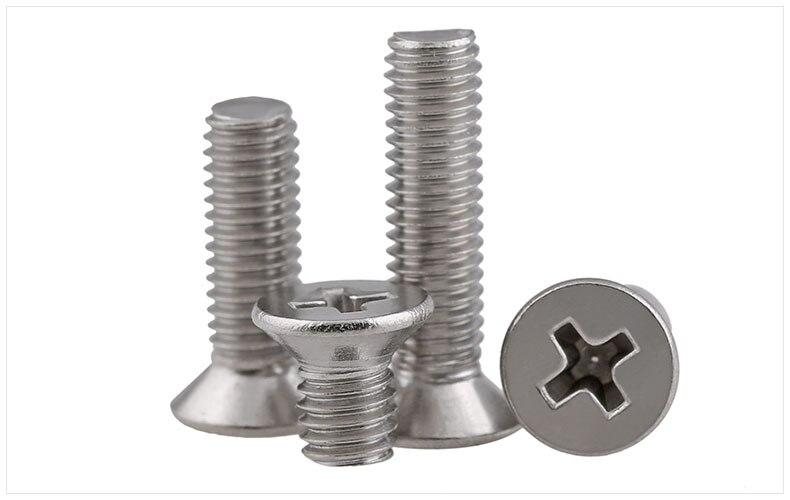 304 stainless steel flat head screws M3 M4 M5 screws KM screws phillips screws304 stainless steel flat head screws M3 M4 M5 screws KM screws phillips screws