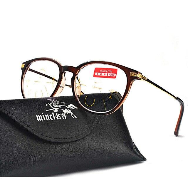 5b4d1250f7d MINCL Round Progressive Multifocal Reading Glasses Bifocal Reading  Eyeglasses See Near And Far Eyewear Women Men Diopter FML