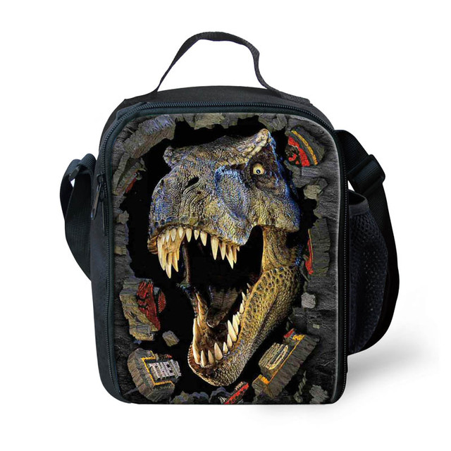 FORUDESIGS 3D Dinosaur Lunch Box For Kids Animal Child Insulated Thermal Lunch Bags Luxury Designer Lancheira Picnic Food Bags