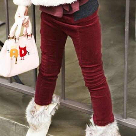 AD Children's Corduroy Pants Age 2 10 Skinny Girls Wine Red ...