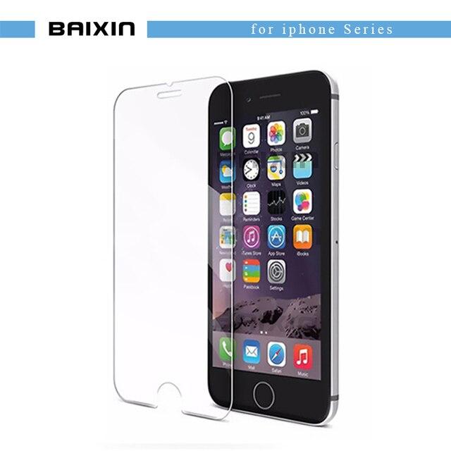 Tempered Glass 9 H для IPhone X 8 4S 5 5S 5C SE 6 6 S плюс 7 плюс защита экрана Защитный гвардии пленка чехол + чистые комплекты