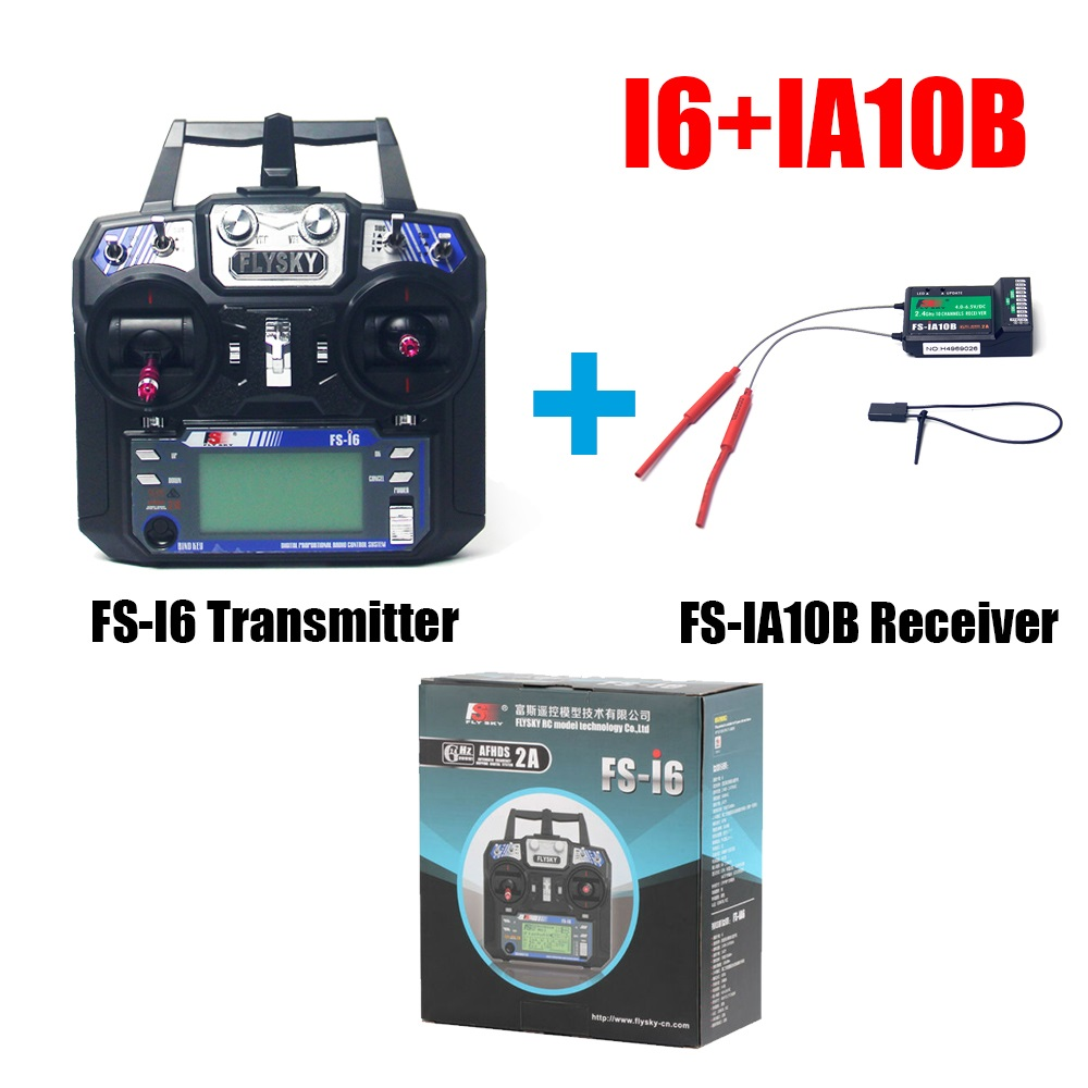 Flysky FS i6 FS I6 2 4G 6ch RC Transmitter Controller with IA10B Receiver For RC