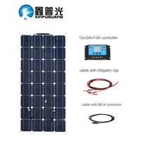 XINPUGUANG Гибкая 12 в 100 Вт солнечная панель своими руками комплект folr батарея