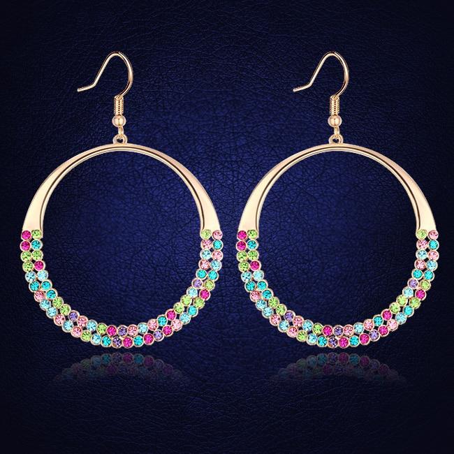 9c0ae9ebd953 ᐂMode Boucles D oreilles Cercle Pavée Cristal De L autriche ...