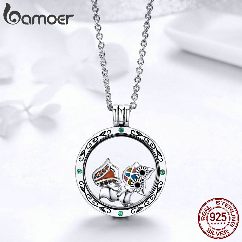 Image 5 - BAMOER 100% Authentic 925 Sterling Silver Mystery Power Box  Petite Floating Locket Necklaces for Women Silver Jewelry SCF002locket  necklacenecklaces for womennecklace necklace