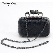 Tonny Kizz модный клач  большой ёмкости высокого качества,женский клач вечеринка,сумка через плечо на ремень,клач с череп для женщин
