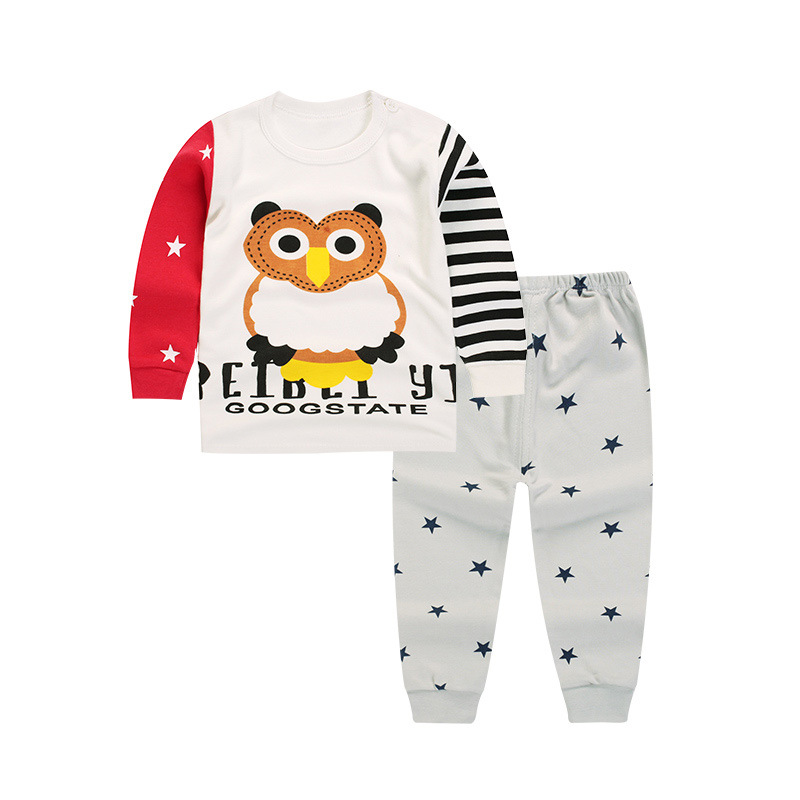 [Unini-yun]Baby Girl Boy Clothes Bird Tops T-shirt Long Sleeve + Pants Casual 2pcs Outfits Set Autumn baby girl clothes kids set new 2017 aint a woman alive that could take my mama s place black baby girl boy kids minions clothes t shirt tops blusas mujer