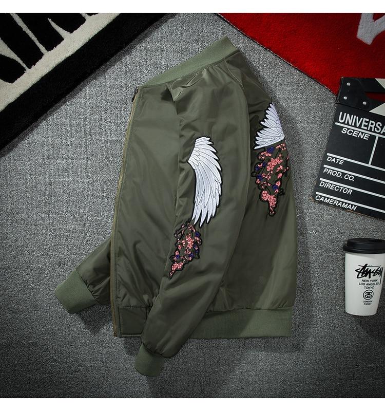 Japanese Harajuku Hip Hop Fashion Bomber Jacket