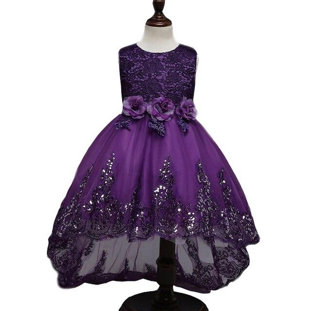 2017 Лучшие качества платье принцессы для девочки длинные платья Блестки Церемонии свадебное платье девушки цветка платье нина красный