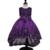 2017 de alta qualidade vestido de princesa para a menina vestidos longos Lantejoulas Cerimônias do vestido de casamento vestido da menina flor vestido nina vermelho
