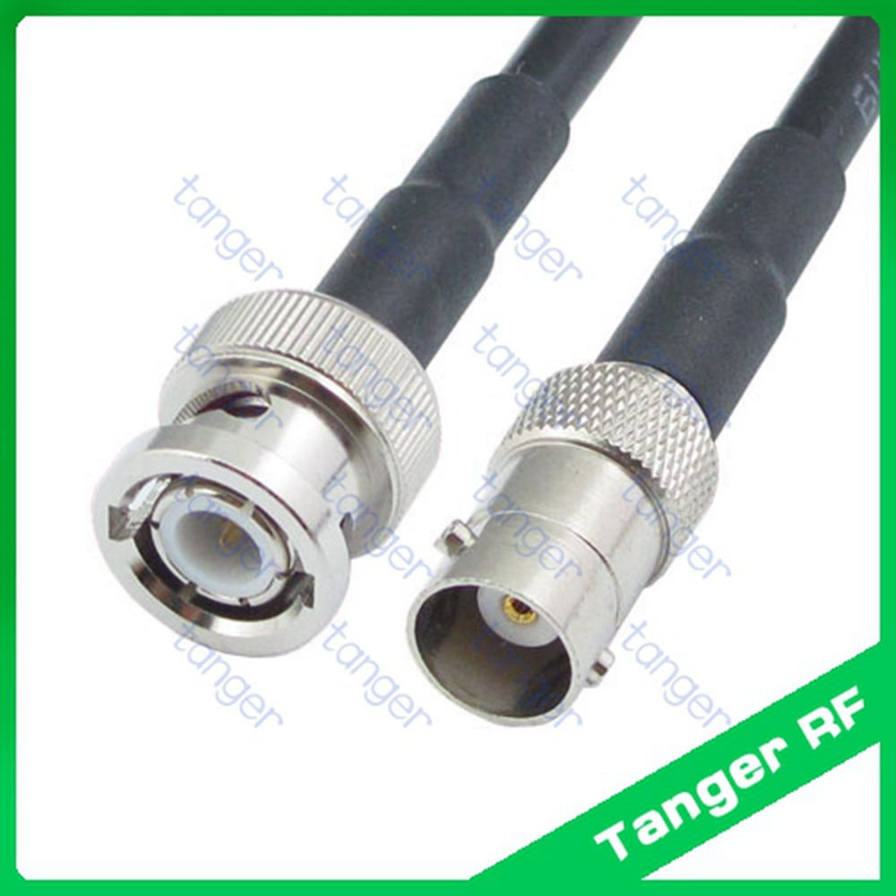 Hot selling BNC male plug to BNC female jack straight RF RG58 Pigtail Jumper Coaxial Cable 3Feet 100cm High Quality New dhl ems 5 sets cable n male plug to n female jack straight ksr195 jumper pigtail 9m h2