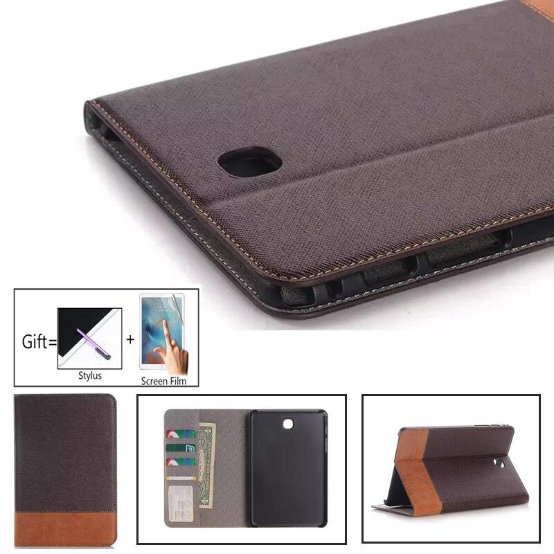 Coque de protection en cuir PU pour Samsung Galaxy Tab S2, 8 pouces, mince, à la mode, T715, T713, T719