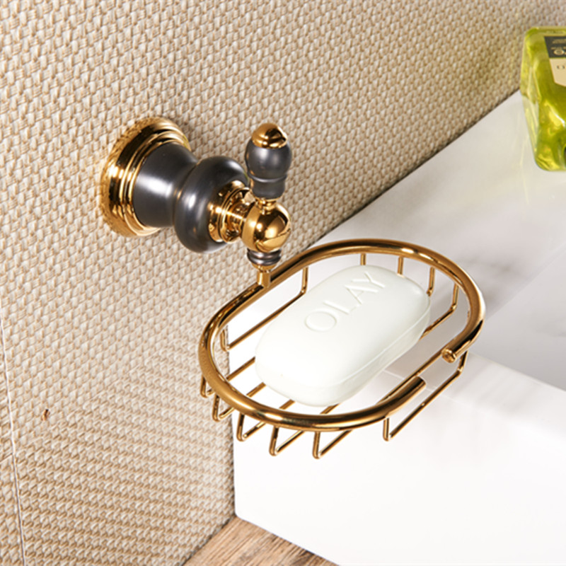 Bathroom brass Golden Soap basket /soap dish/soap holder /bathroom accessories,bathroom furniture toilet vanity