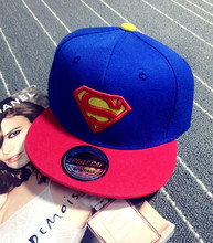 New High Quality Baby Boys Girls Snapback Hats Children Batman Superman Baseball Cap Kids Cartoon Hip Hop Hat For 3-10 Years Old