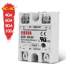 Single Phase SSR Solid State Module Relay AC-AC 40A 60A 80A