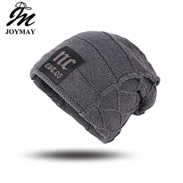 Joymay Unisex Womens Mens S Camping Hat Winter Beanie Baggy Warm Wool Cap Hot WM046