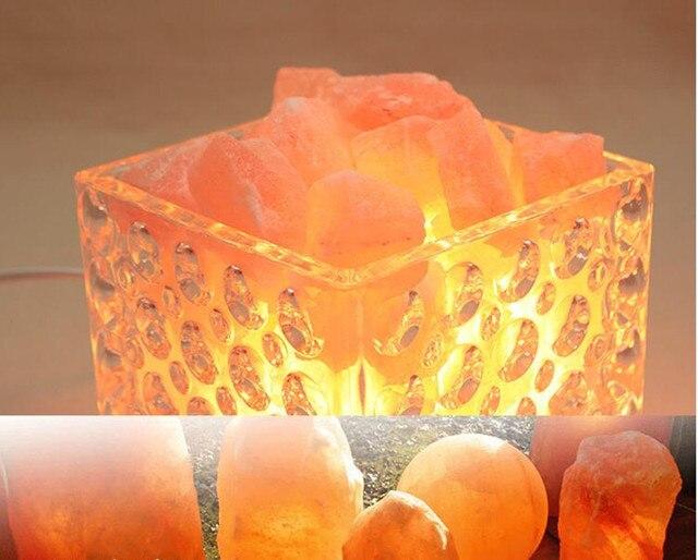 Novelty Himalayan salt rock table lamp for air purity lava lamp ...