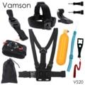 Gopro accesorios gopro kit xiaomi yi accesorios para gopro hero 5 4 3 xiaomi yi 4 k sjcam sj4000 sj5000 sj6000 cámara VS20