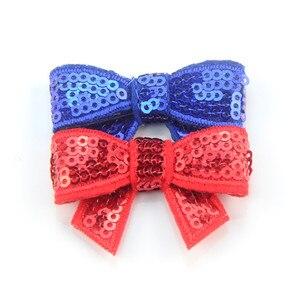 Image 4 - 120 unids/lote 37 colores U Pick 1,8 Petite Glitter bordado lentejuelas arcos DIY recién nacido diadema ropa zapatos accesorios HDJ108